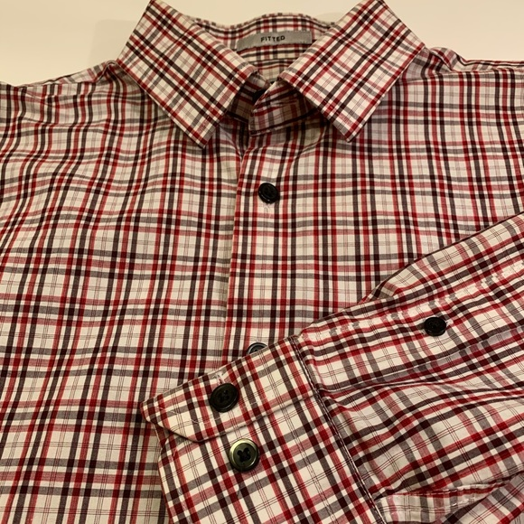 Express Other - Express fitted plaId long sleeve shirt size S/P
